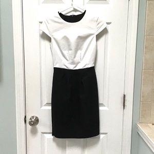 Mango Suits Black and White Sheath Dress XXS 00